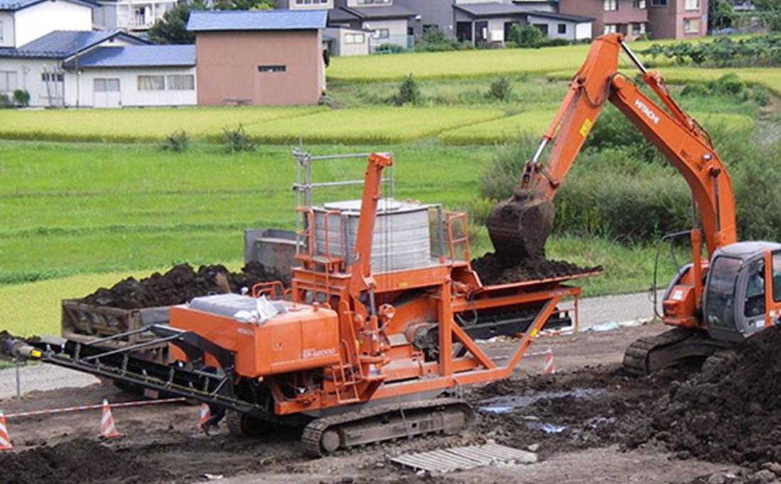 土壌改良機による土壌改良工法